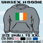 IRELAND IRISH FLAG EMBLEM UNISEX HOODIE HOODED TOP